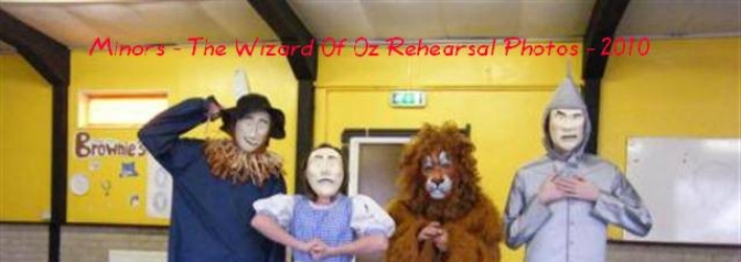 The Wizard Of Oz - Maltby Minors Rehearsal Photos